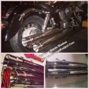 KerKer Muffler Slip On for Honda Shadow